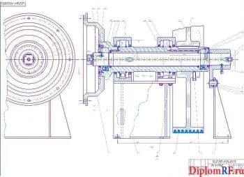 Чертёж сборочный вала приводного пресс-гранулятора (формат А1)