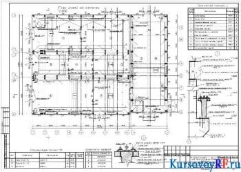 Чертеж план этажа на отметке 0.000