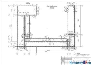 План фундаментов М 1:200