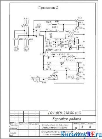 Курсовое проектирование автоматизации башенной распылительной сушилки