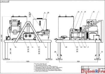 Проект  навесной установки для подготовки машин к  долгому хранению