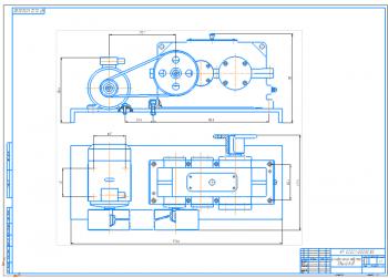 Проект привода с двухступенчатым цилиндрическим редуктором