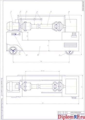 Проект стенда для балансировки карданных валов автогрейдеров