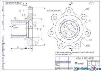 Курсовое проектирование и расчет первой передачи среднего моста автомобиля с колесной формулой (6х4)