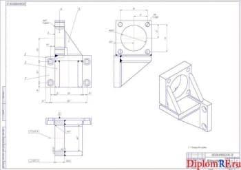 Сборочный чертеж кронштейна для крепления дополнительного аккумулятора к беспилотнику (А1)