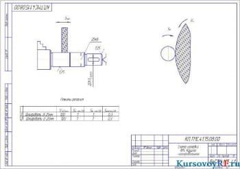 Чертеж схема наладки кругло-шлифовальная (формат А 3 )