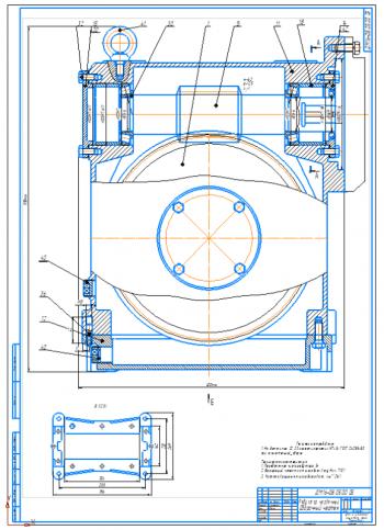 Разработка привода с червячным редуктором ленточного транспортера с тяговым усилием 4,25 кН