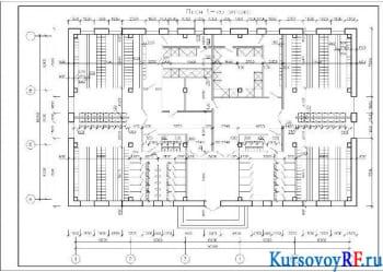 Чертеж план первого этажа