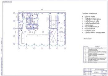 6.План цеха с размещением оборудования А1
