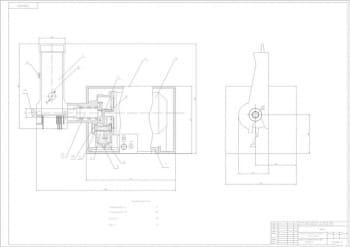 6.Механизм для нарезания мяса на бефстроганов МБ, сборочный чертеж конструкции А1