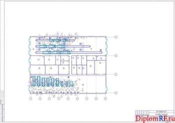Схема компоновка помещений производственного корпуса (формат А1)