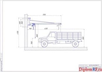 Организация зоны ТО и ТР автопарка с разработкой консольно-поворотного крана