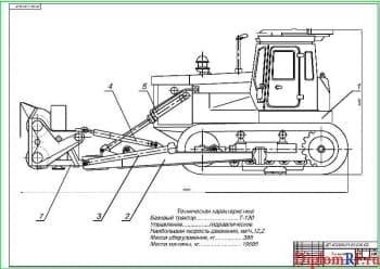 Модернизация бульдозера Т-130 с разработкой оборудования для уборки снега