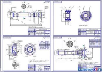 Скомпонованный чертежи деталировки (формат А1)