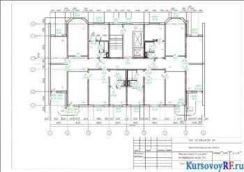 План типового этажа М 1:100