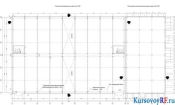 План производственного здания М1:200, План административно-бытового корпуса М1:200