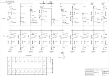 7.Чертеж первичных соединений РП-1 10кВ А1