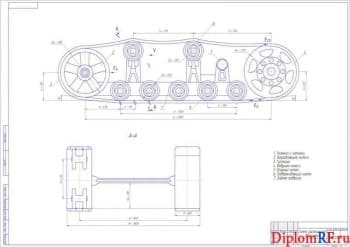 Разработка опорных составляющих ходового механизма гусеничного трактора