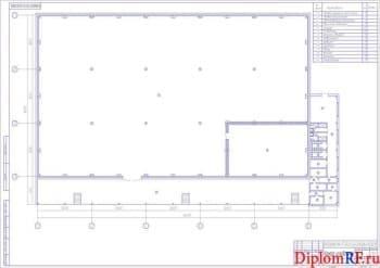План камеры холодильной (формат А1)