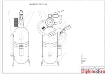 Проект диагностической линии СТО  с разработкой универсального съемника и устройства подкачки шин