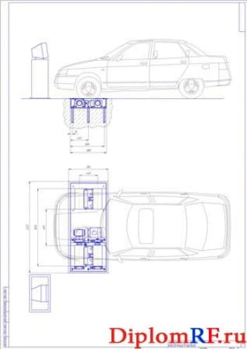 Вид общий тормозного стенда (2 листа формат А1)