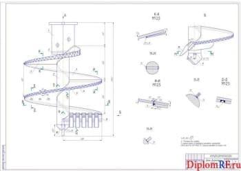Установка буронабивных свай с разработкой бурового инструмента