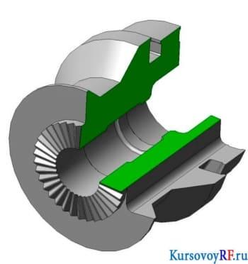 3-D рабочая модель круглого фасонного резца