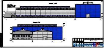 Чертеж фасад здания 1-21