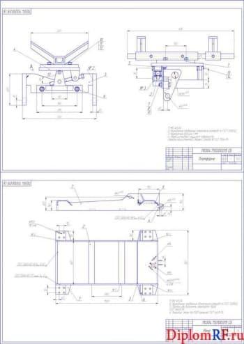 Проект передвижного стенда с подъемным механизмом для сборочно-разборочных работ и транспортировки агрегатов