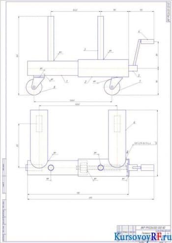 Разработка плана участка для ремонта тормозных барабанов грузовых автомобилей