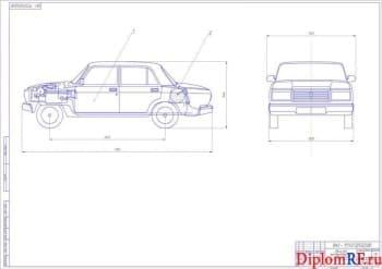 Конвертация легкового автомобиля на примере ВАЗ-2106 для работы на газу с разработкой крепления газобаллонного оборудования