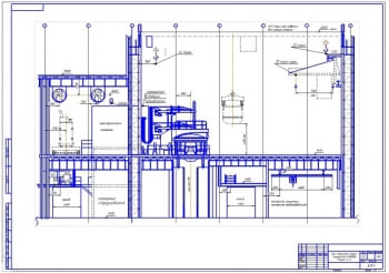 8.Чертёж в разрезе цеха стального литься мощностью 4000 тонны в год А1