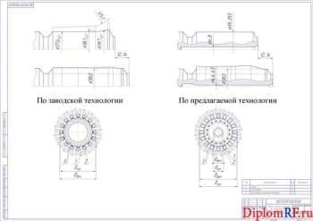 Схема течения металла при деформировании шлицевых валов (формат А1)