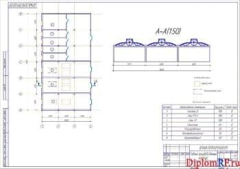 Чертеж главного корпуса производственного (формат А1)