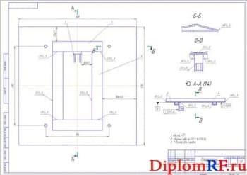 Сборочный чертеж платформы (формат А2)