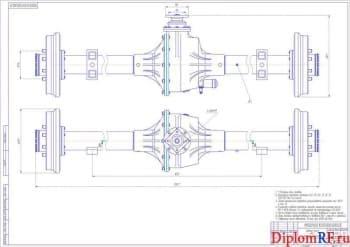 Чертёж сборочный заднего моста УАЗ (формат А1х2)