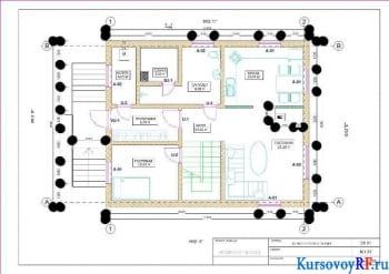 Архитектурный курсовой проект жилого здания индивидуального типа